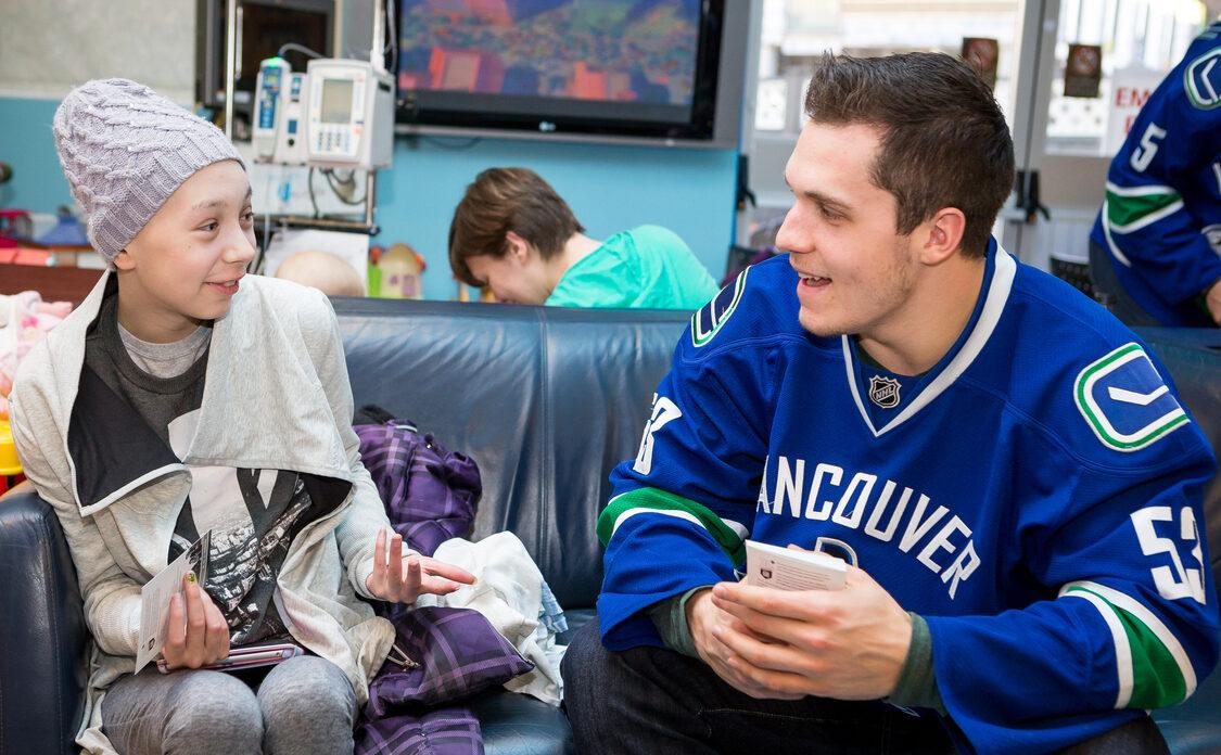Vancouver Canucks captain Bo Horvat at BC Children's Hospital