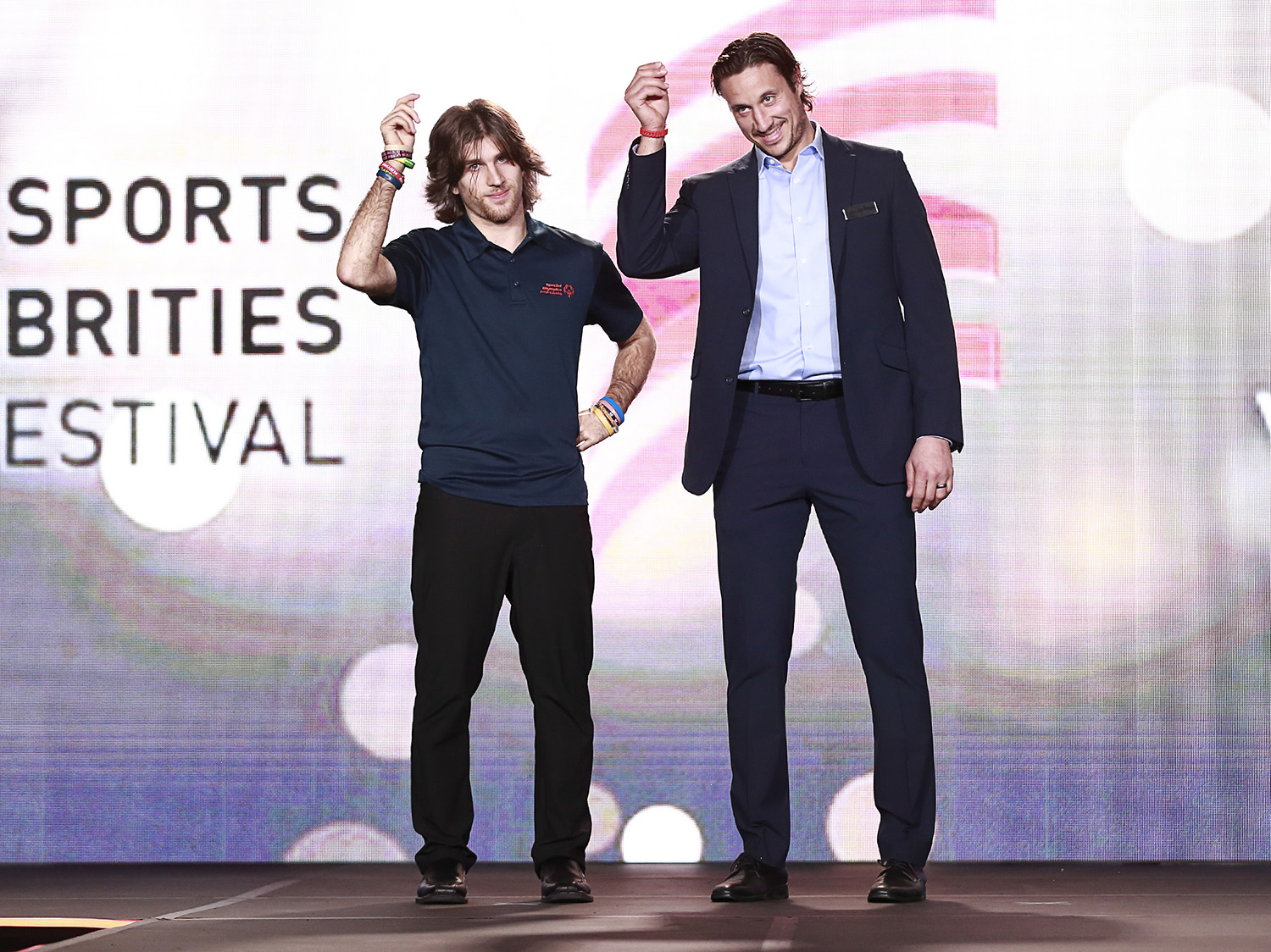 Jay Beagle and a Special Olympics athlete at the 2019 SCF