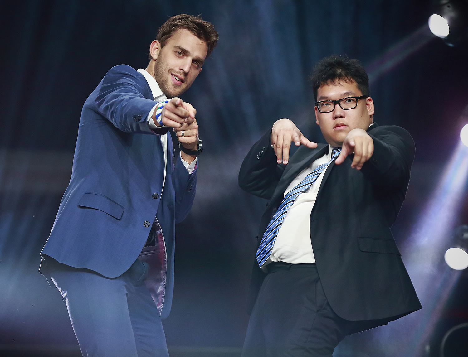 Brandon Sutter and Alex Pang at the 2017 Sports Celebrities Festival